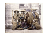 Japanese Yakonin in Dress of Ceremony, C.1868 Giclee Print by Felice Beato