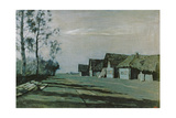 Village by Moonlight, 1897 Giclee Print by Isaak Ilyich Levitan