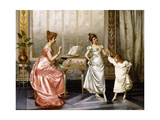 The Dancing Lesson Giclee Print by Vittorio Reggianini