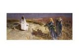 Christ in the Desert, 1895 Giclee Print by Domenico Morelli