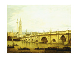 A View of London Bridge Giclée-tryk af John Paul
