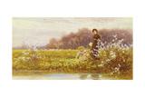 Picking Primroses, 1896 Giclee Print by Thomas James Lloyd