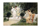 The Forbidden Kiss Giclee Print by Francis Coates Jones