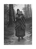 Mother and Child on a Wooded Path Giclee Print by Gustav Adolph Spangenberg