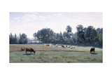 Marcoussis - Cows Grazing, 1845-50 Giclee Print by Jean-Baptiste-Camille Corot