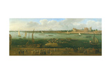 A Panoramic View of Lambeth Palace Giclee Print by Jan The Elder Griffier