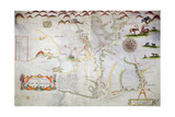 Pascatway River in New England, C.1660-85 Giclee Print
