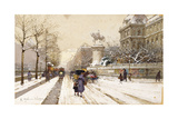 Paris in Winter Giclee Print by Eugene Galien-Laloue