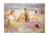 Three Women on the Beach; Trois Femmes a La Plage Giclee Print by Henri Lebasque