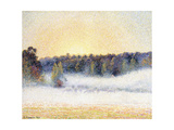 Sunset and Mist at Eragny, 1891 Giclee Print by Camille Pissarro