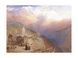 Valley of St. Nicolas, Monte Rosa Range, C.1854 Giclee Print by Thomas Miles II Richardson