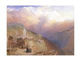 Valley of St. Nicolas, Monte Rosa Range, C.1854 Giclee Print by Thomas Miles II Richardson