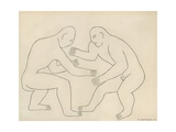The Wrestlers, 1913 Giclee Print by Henri Gaudier-brzeska
