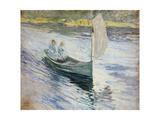 Two Children in a Sailboat, 1883 Giclee Print by John Henry Twachtman
