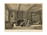 Fire-Place in Drawing Room, Speke, Lancashire Giclee Print by Joseph Nash