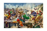 Alexander the Great at the Battle of Issus Giclee Print by Peter Jackson