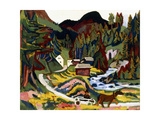 Landscape in Spring, Sertig, 1924-25 Giclee Print by Ernst Ludwig Kirchner