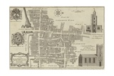 Map of Billingsgate and Bridge Wards, London Giclee Print