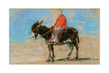 The Ride on the Beach Giclee Print by Eugène Boudin