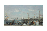 The Regatta at Le Havre, 1869 Giclee Print by Eugene Louis Boudin