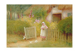 Feeding the Doves Giclee Print by Arthur Claude Strachan