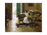 A Memory - in the Italian Villa Giclee Print by William Merritt Chase