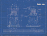 Doctor Who - Dalek Blueprint Masterprint