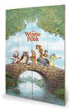 Winnie The Pooh Wood Sign Targa in legno