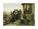 After the Protestant Church Service, 1872 Giclee Print by Gustave Brion