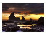 Grey Cloud Tide Sunset Prints by Nish Nalbandian