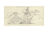 Hector's Body Dragged at the Car of Achilles Giclee Print by John Flaxman