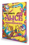 Alice In Wonderland - 1974 Wood Sign Træskilt