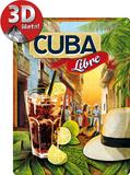 Cuba Libre Plakietka emaliowana
