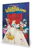 Alice In Wonderland - 1989 Znak drewniany