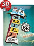 The 66 Blue Star Motel Blechschild