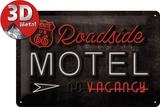 Route 66 Roadside Motel Tin Sign