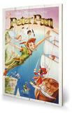 Peter Pan - Flying Wood Sign Træskilt