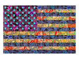 America Quilt Poster