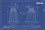 Doctor Who - Dalek Blueprint Prints