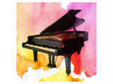 Colorful Piano Print by Irena Orlov