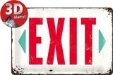 Exit Plaque en métal