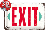Exit Cartel de metal