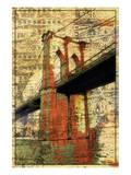 Pont de Brooklyn, dimanche soir Affiche par Irena Orlov