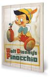 Pinocchio - Conscience Znak drewniany