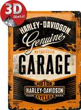 Harley-Davidson Garage - Metal Tabela