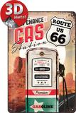 Route 66 Gas Station Plaque en métal