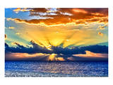 Sun Rays Sunrise Prints by Toni Vaughan