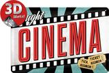 Cinema Plaque en métal