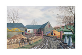 Barns in Winter, 1943 Giclee Print by Tristram Paul Hillier