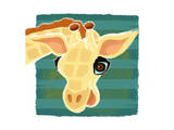 Giraffe portrait Posters by Penny Keenan